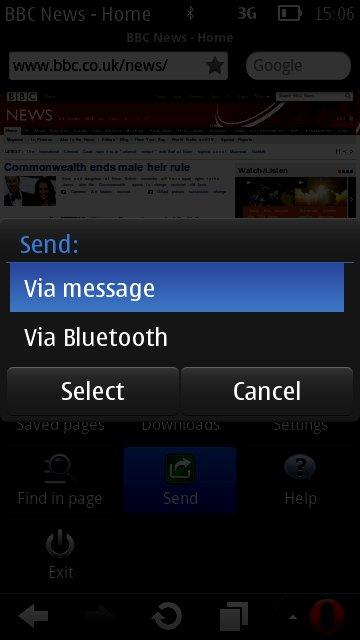 Opera Mini 6.5 (Symbian S60)