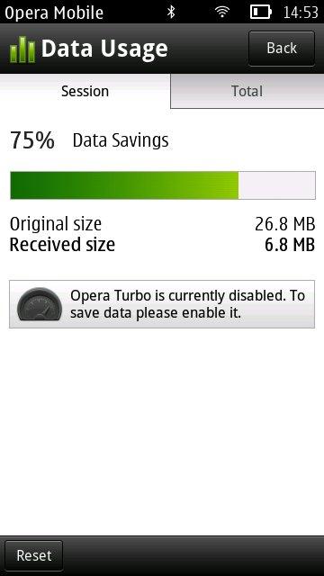 Opera Mobile 11.5 (Symbian S60)
