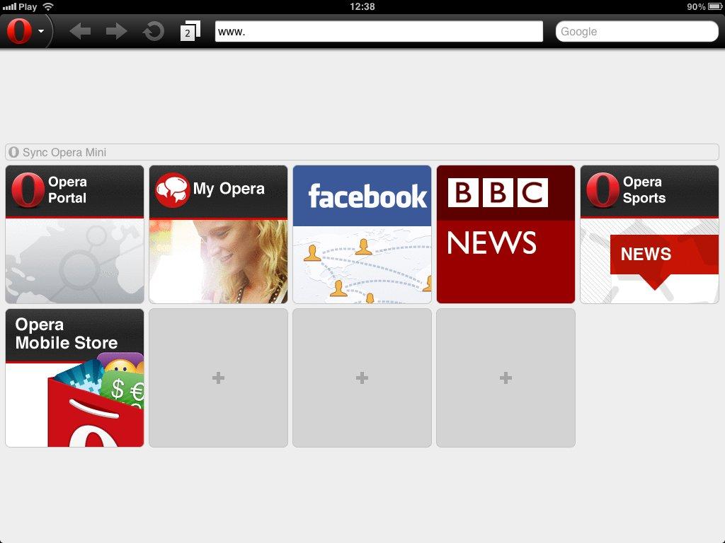 Opera Mini 6.5 (iPad)
