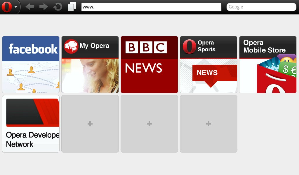 Opera Mobile 11.5 (MeeGo-Netbook)