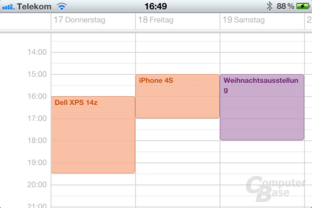 Apple iPhone 4S: Kalender