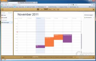 iCloud Kalender Woche