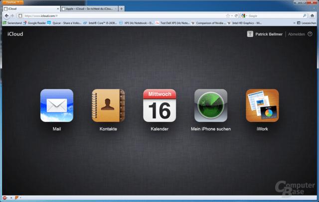 iCloud via Desktop-Browser