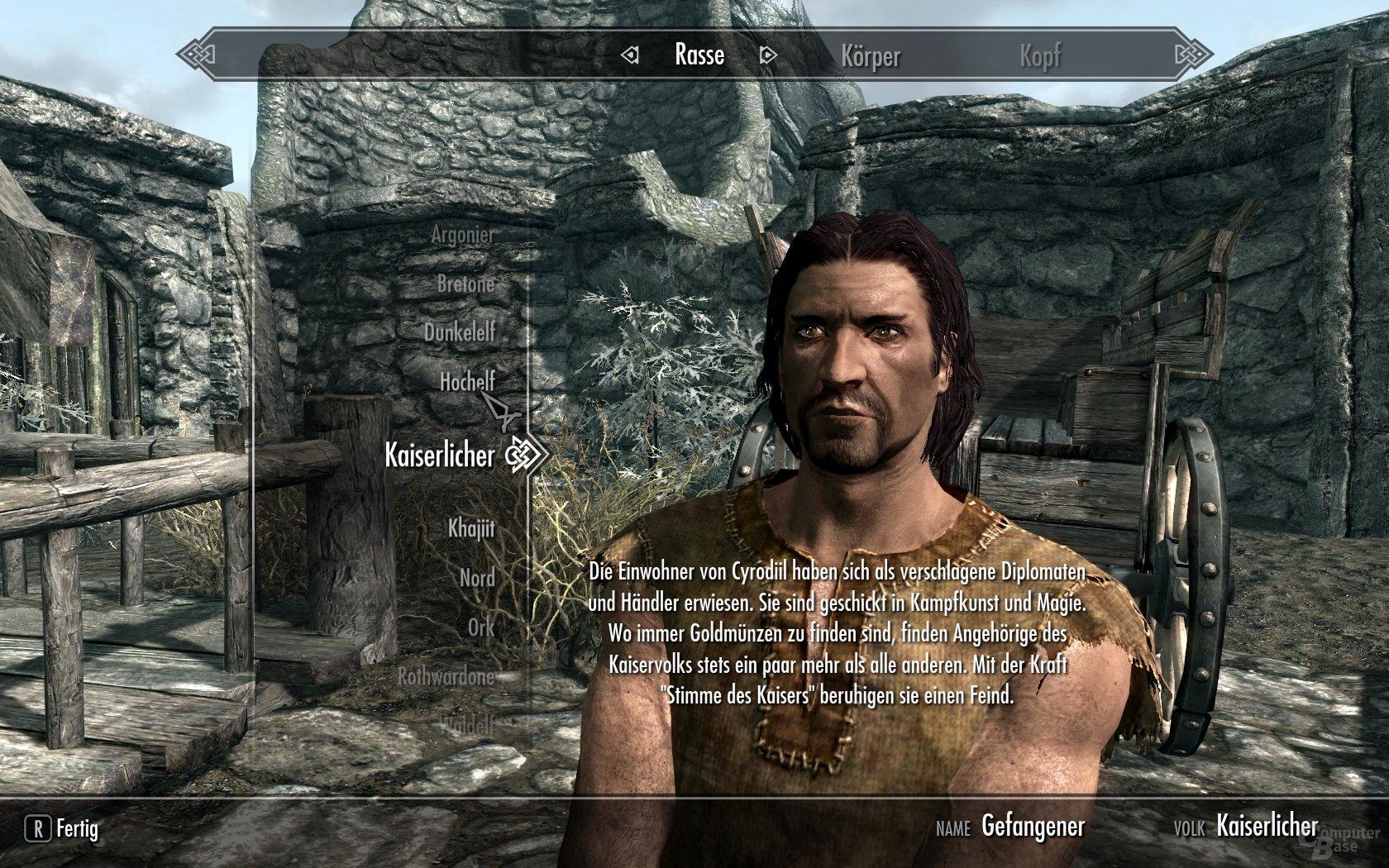 Skyrim - Charaktererstellung