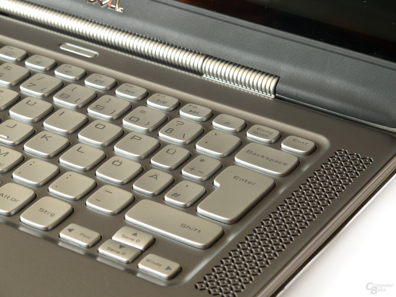 """Dell XPS 14z: """"Schwammige"""" Tastatur mit teilweise zu kleinen Tasten"""