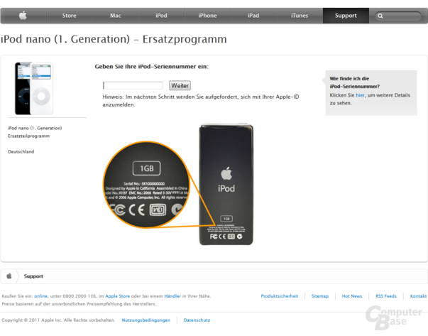Apple Austauschroutine