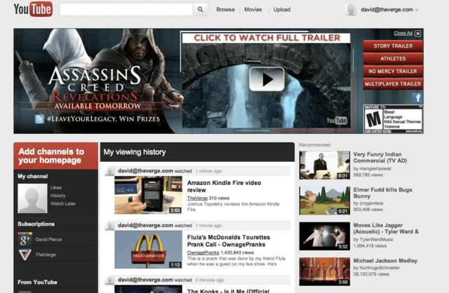 Neues YouTube-Design