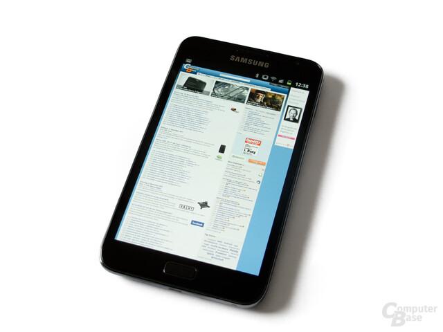 Samsung Galaxy Note: Das große Display ist optimal für die Betrachtung von Inhalten