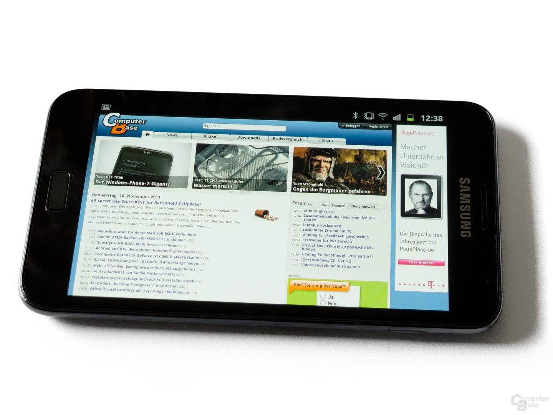 Samsung Galaxy Note: Im Internet surfen macht auf dem großen Display viel Spaß