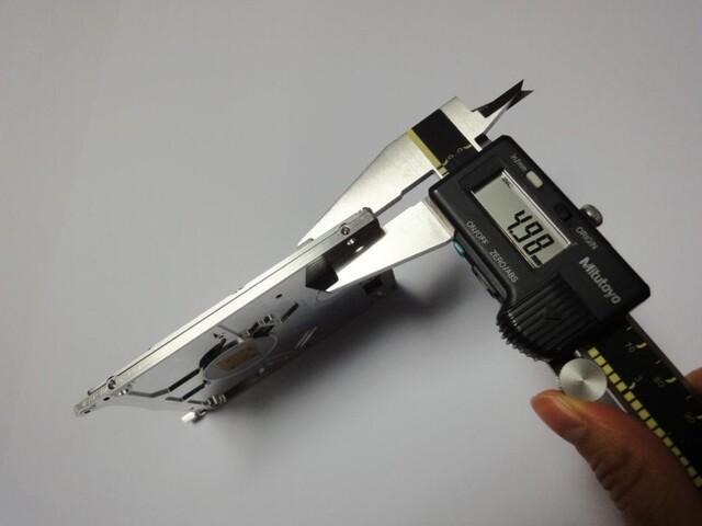Prototyp einer nur 5 mm dicken Festplatte mit Axialfeldmotor