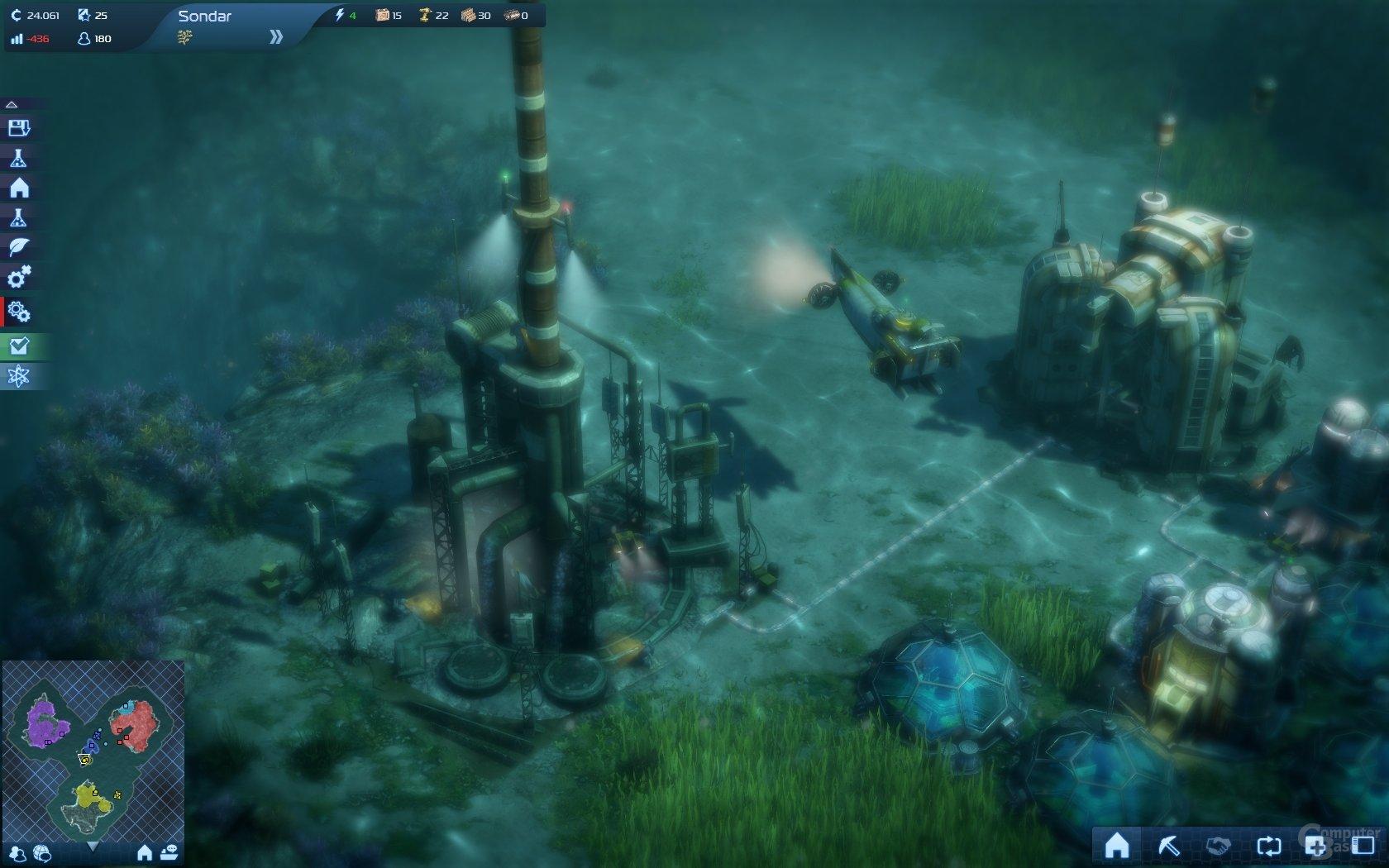 Anno 2070: Mit den Techs kann man auch unter Wasser siedeln