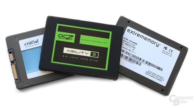 Drei aktuelle SSDs