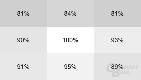 Asus Zenbook UX31E: Homogenität