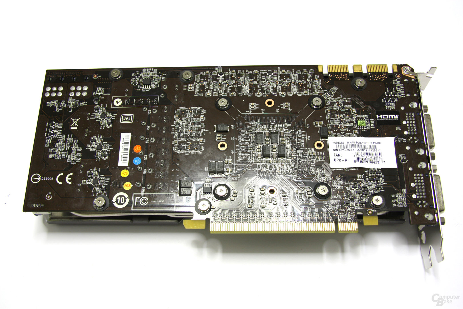 GeForce GTX 560 Ti 448 Core TFIII PE OC Rückseite
