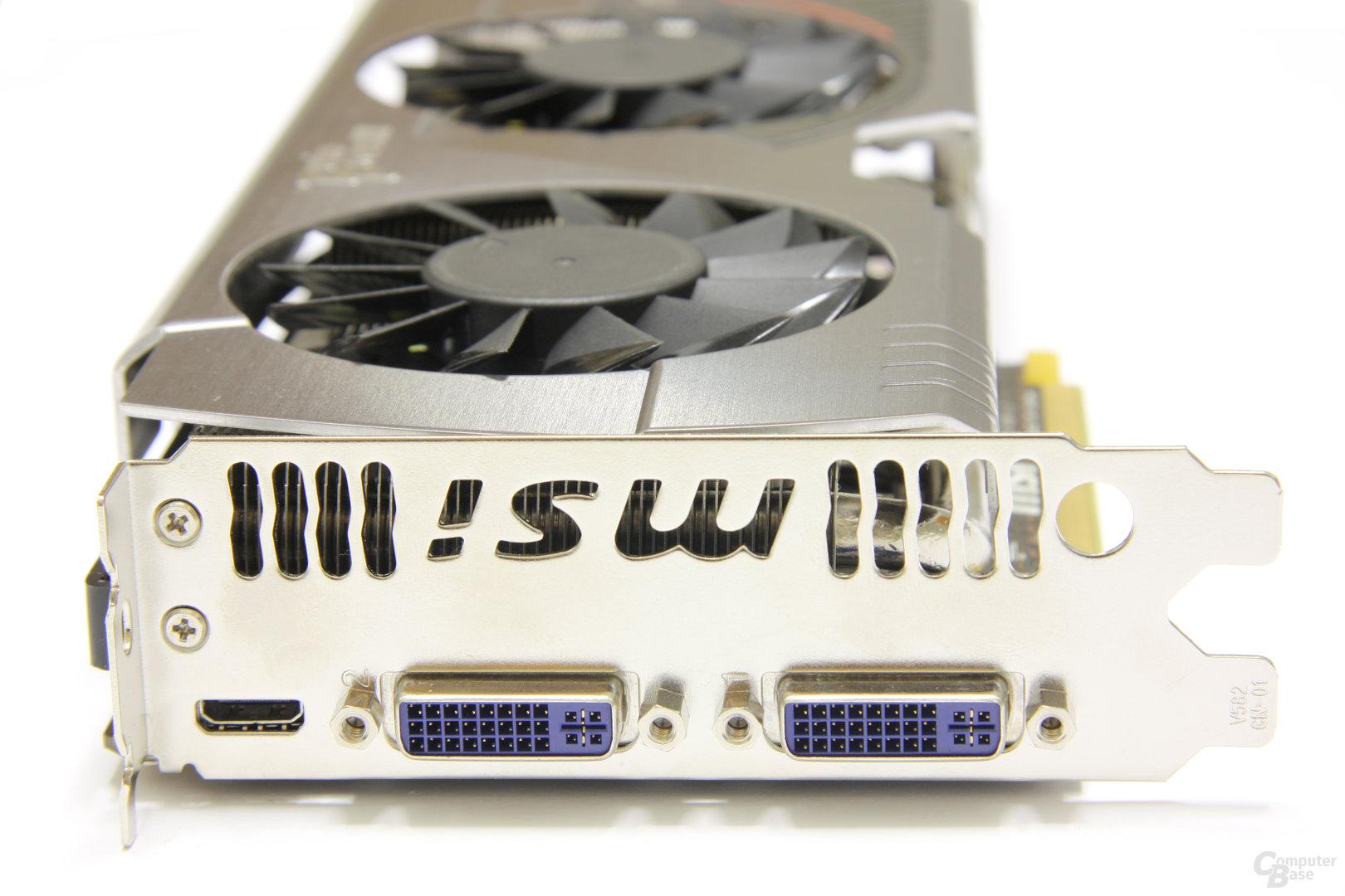 GeForce GTX 560 Ti 448 Core TFIII PE OC Slotblech