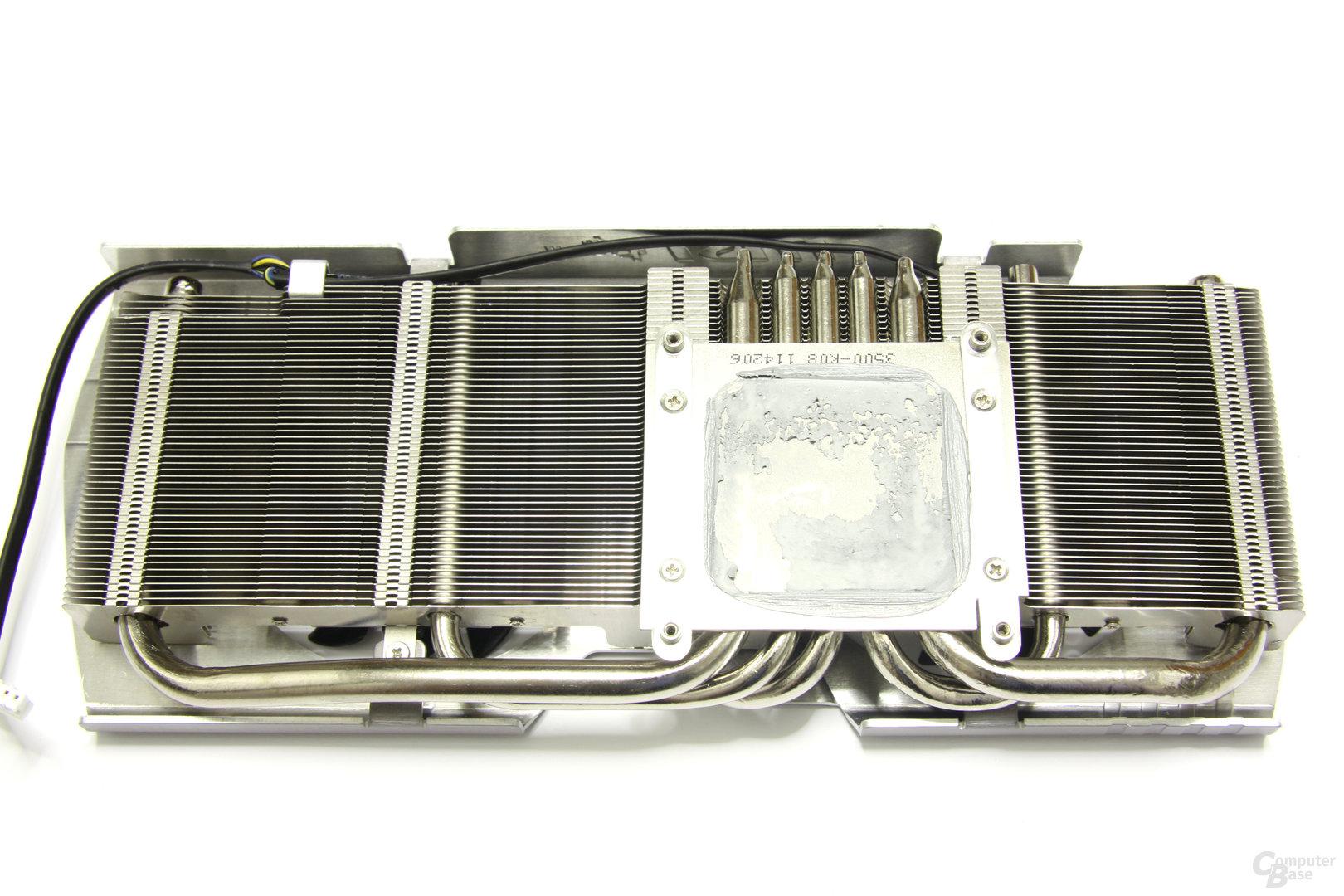 GeForce GTX 560 Ti 448 Core TFIII PE OC Kühlerrückseite