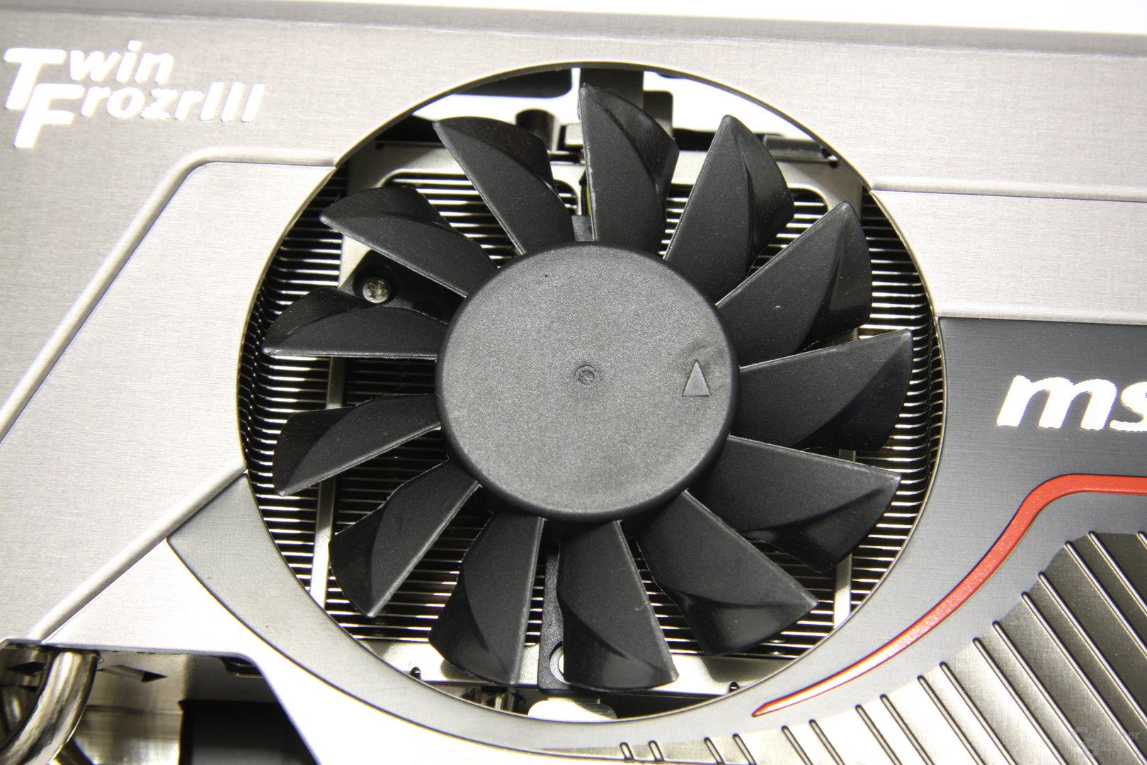 GeForce GTX 560 Ti 448 Core TFIII PE OC Lüfter