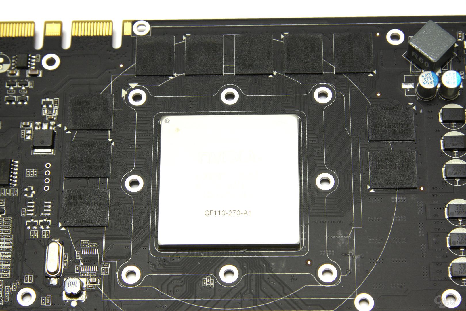 GeForce GTX 560 Ti 448 Core LE GPU und Speicher