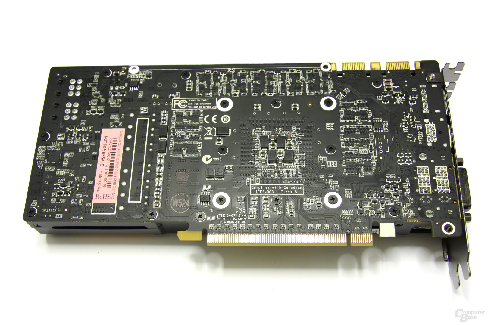 GeForce GTX 560 Ti 448 Core LE Rückseite