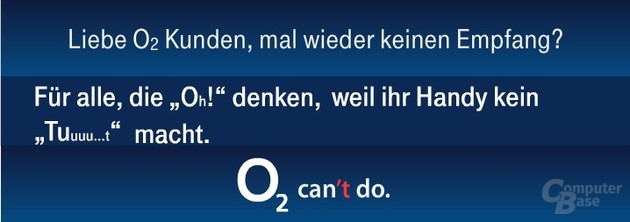 "Telekom wirbt mit ""O2 can't do"""