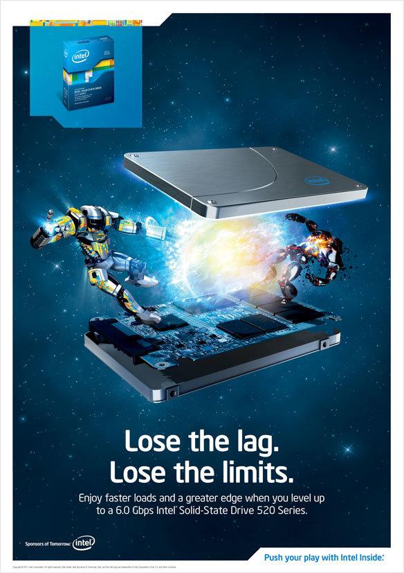 Intel SSD 520 Werbung
