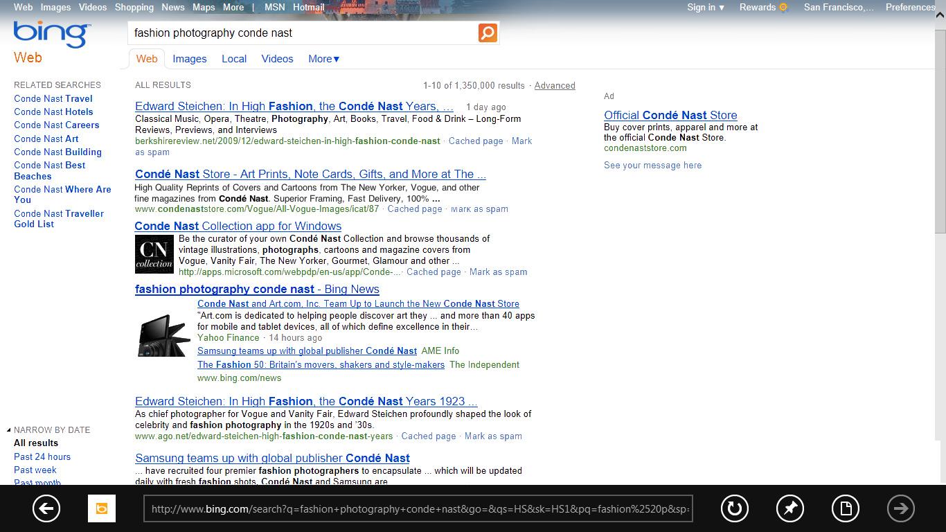 Suchen von Apps via Suchmaschine