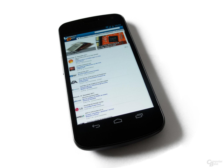 Samsung Galaxy Nexus: Hoher Kontrast, geringe Maximalhelligkeit