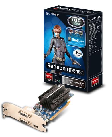Sapphire HD 6450 FleX für drei DVI-Monitore