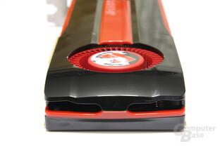 Radeon HD 7970 GPU und Speicher von hinten