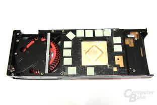 Radeon HD 7970 GPU und Speicher Kühlerrückseite