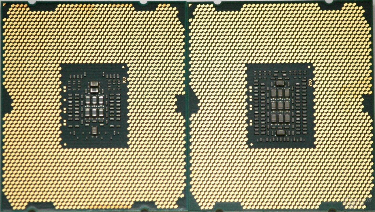Intel Core i7-3820 links vs. Intel Core i7-3960X rechts
