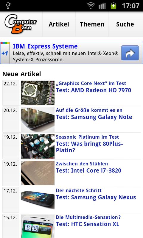 Mobile Artikel-Seite
