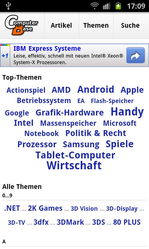 Mobile Themenseite