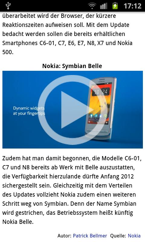 Mobile News-Ansicht 2/3