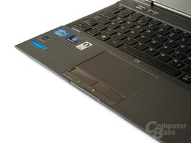 Toshiba Satellite Z830: Gutes Touchpad, Tasten aber mit zu hartem Druckpunkt