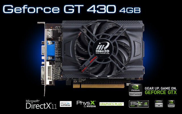 Inno3D GeForce GT 430 mit 4 GB VRAM