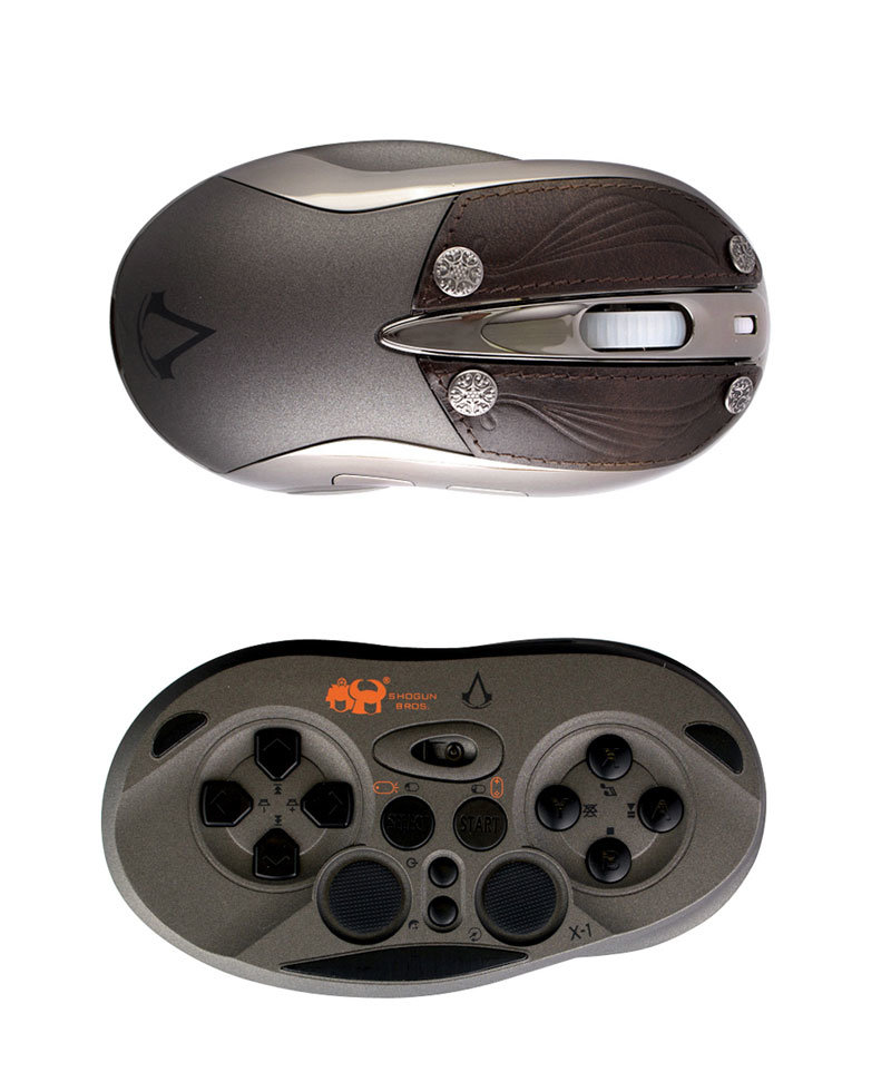 "Shogun Bros. Wireless Gamepad Mouse Chameleon X-1 im ""Assassin's Creed""-Design"