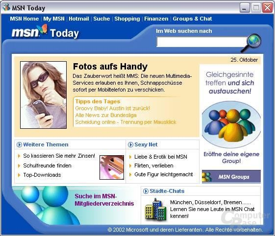MSN Messenger 5 mit MSN Today