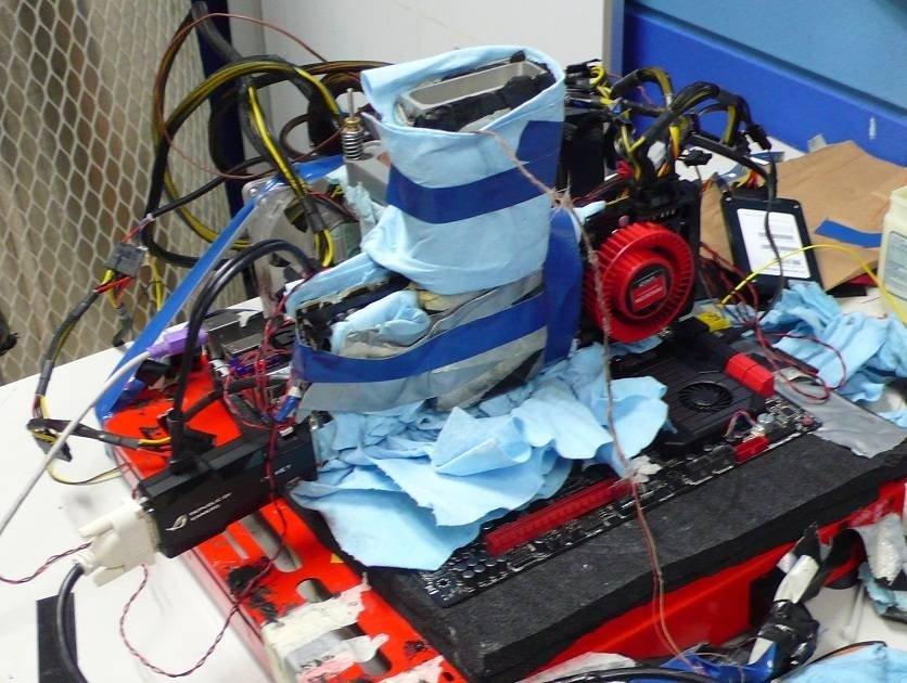 Testaufbau mit Radeon HD 7970