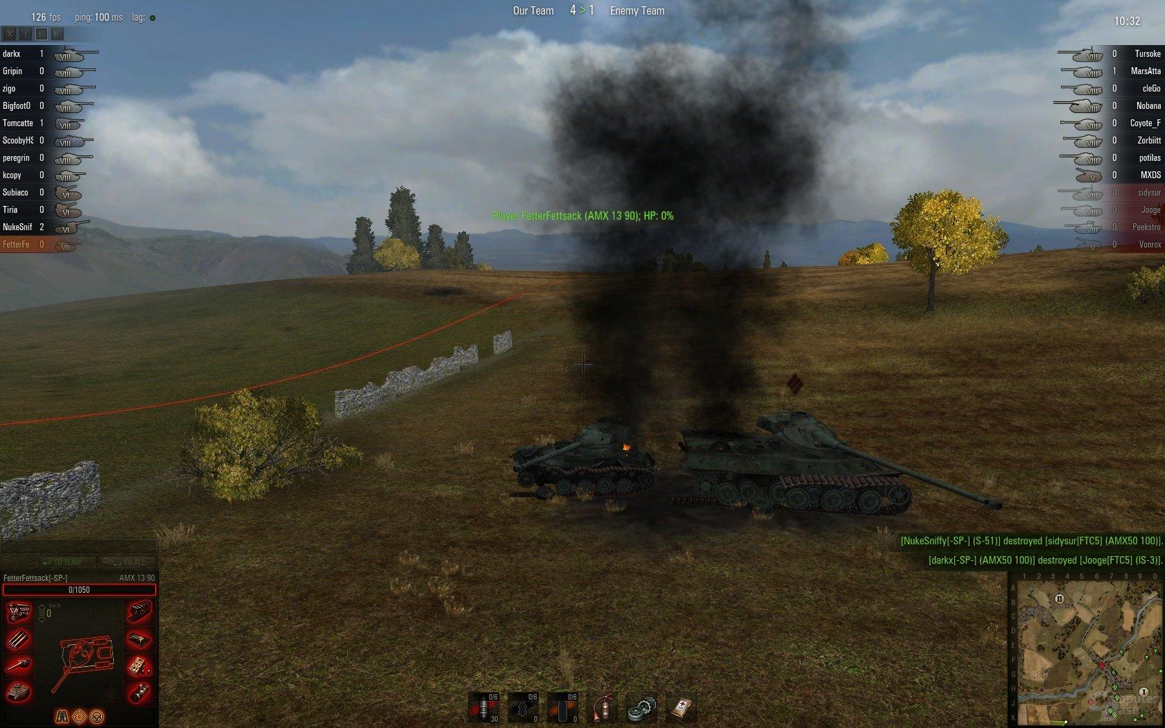 AMX 13 90 und AMX 50 100 Wracks