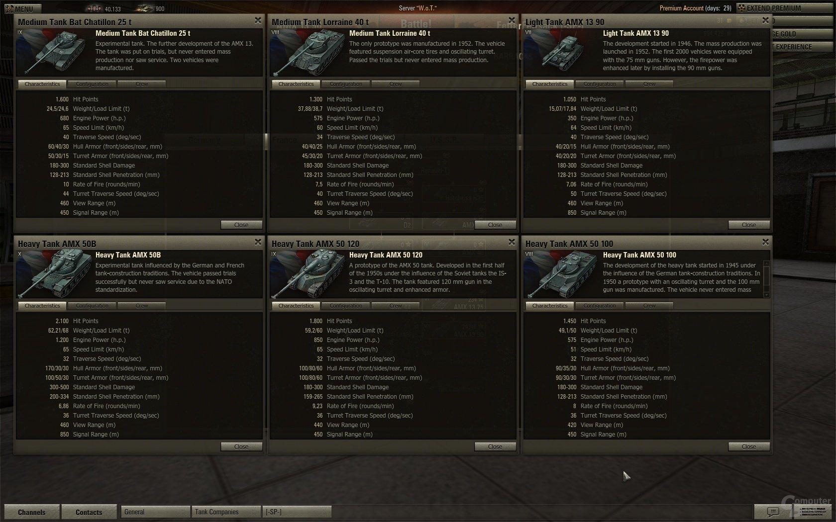 Hightier-Panzer-Daten