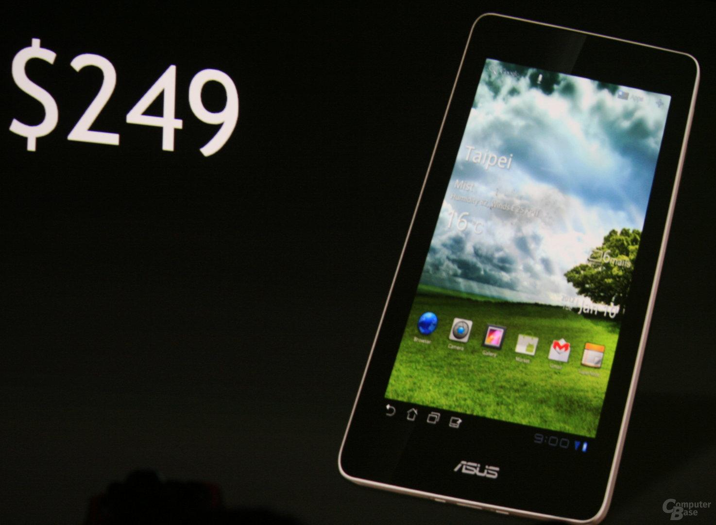 Asus' Tablet mit 7 Zoll für 249 US-Dollar