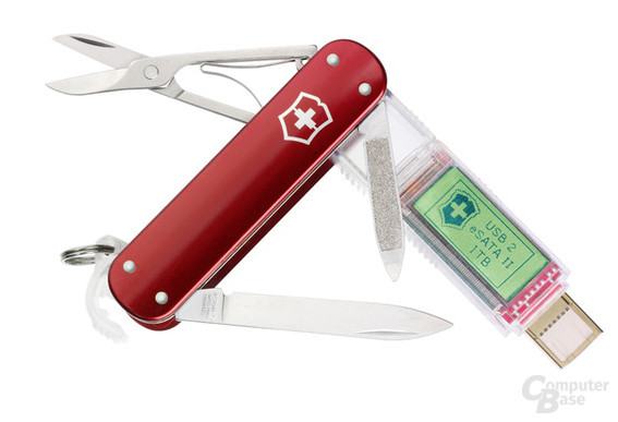 Schweizer Taschenmesser mit bis zu einem TeraByte Speicher