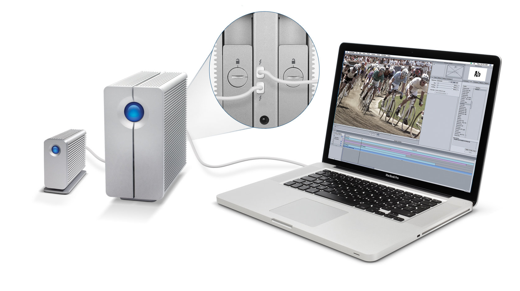 LaCie 2big und eSATA Hub Thunderbird-Serie am Macbook