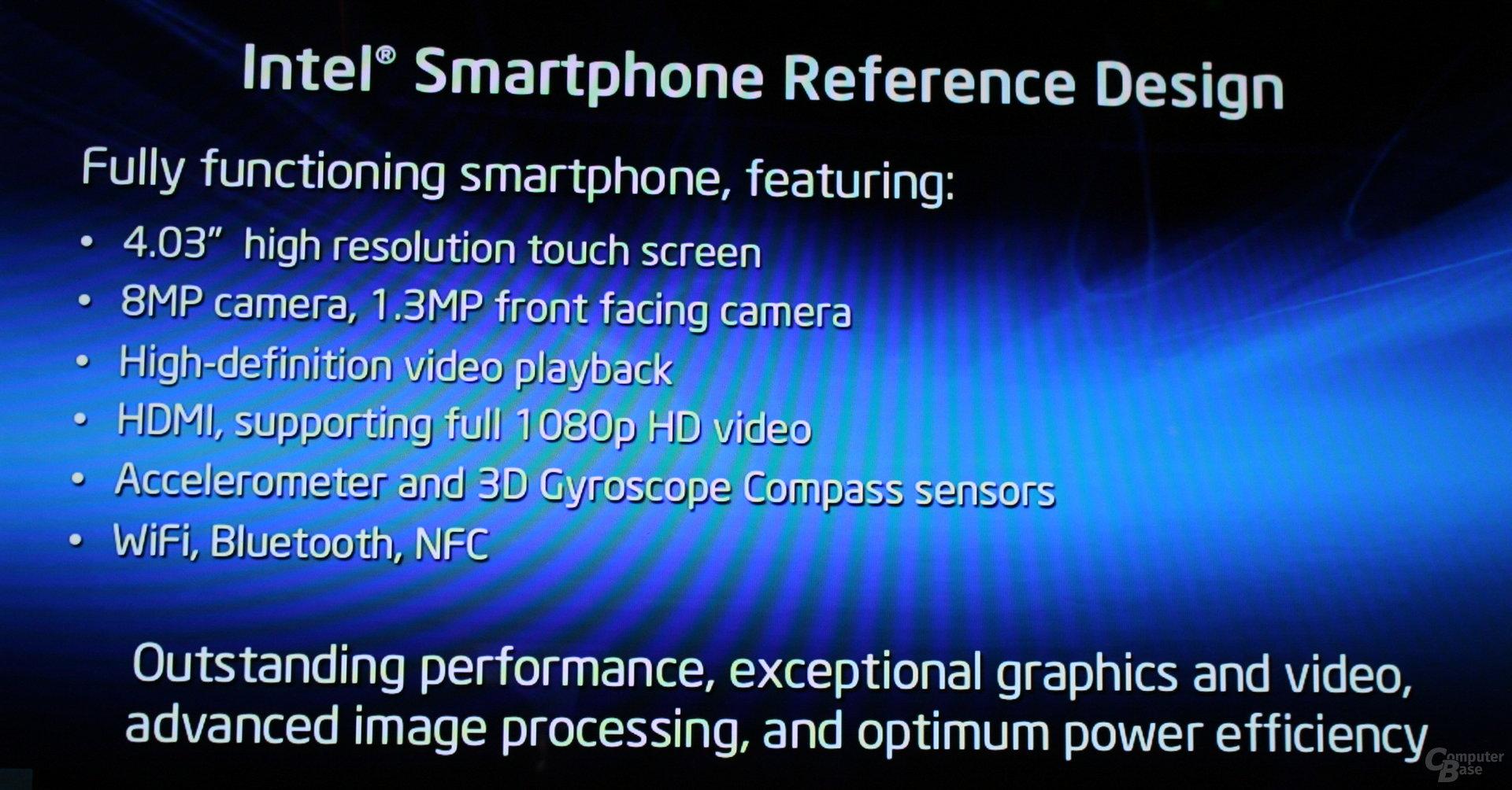 "Intels ""Medfield""-Smartphone"