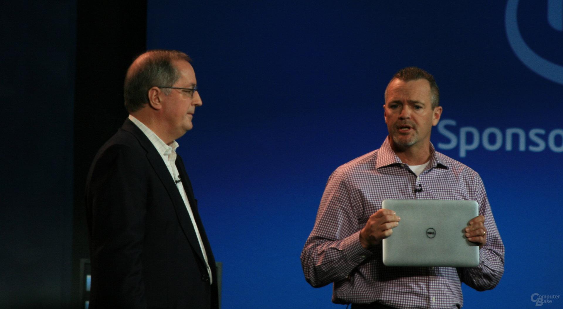 Präsentation auf der Intel-Keynote