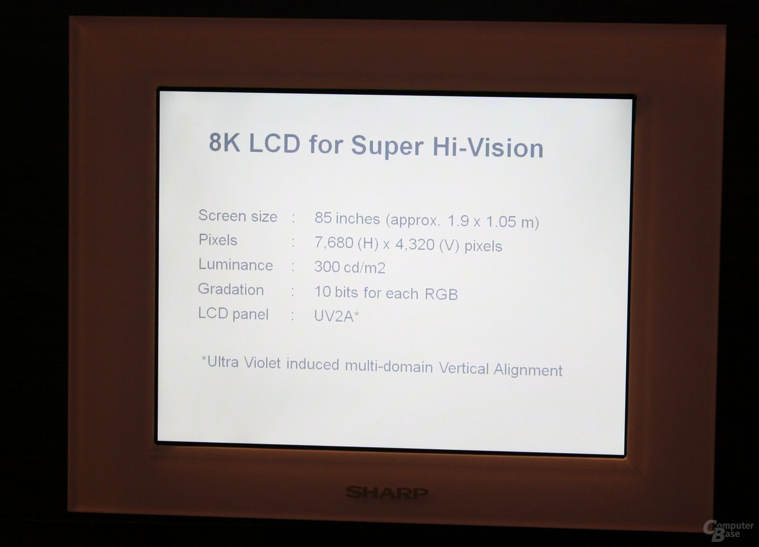 Sharps 8K-TV