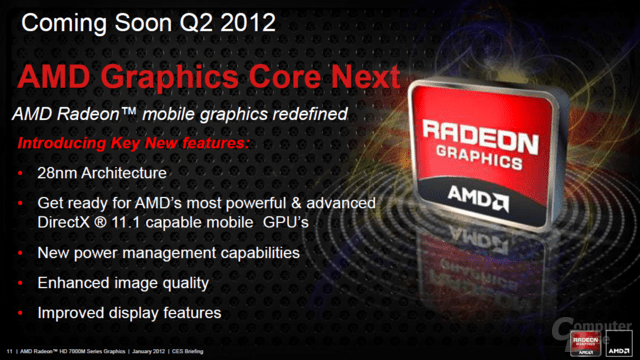 AMD Radon HD 7000M auf 28-nm-Basis