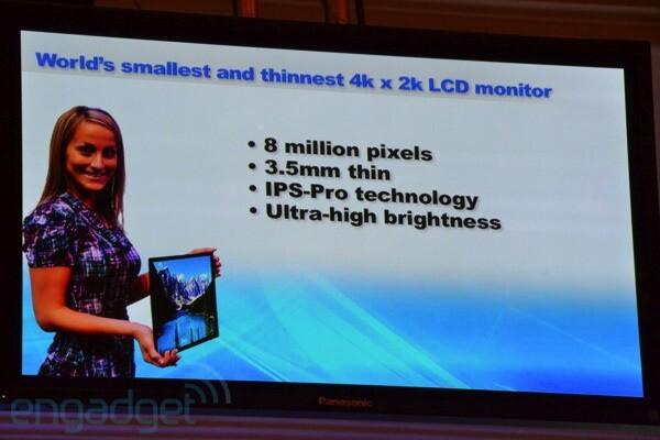"""20,4""""-Alpha-IPS-LCD-Panel mit 4K2K-Auflösung von Panasonic"""