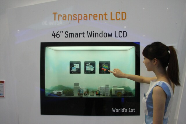 Transparentes 46-Zoll-LCD-Panel